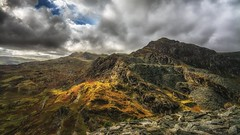 Call of the wild (Einir Wyn) Tags: snowdonia northwales beauty landscapes mountains outdoor hills colours color peak autumn season uk british britain quarry cwmorthin ffestiniog cymru orange light