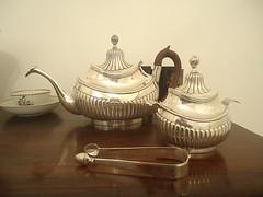 tea time (Daniboy) Tags: ch tea set silver portuguese chinese porcelain sugartongs