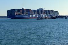 CMA CGM Zheng He (Hythe Eye) Tags: hythe hampshire southamptonwater containership cmacgmzhenghe