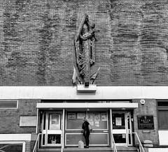 Madonna (Mac McCreery) Tags: statue madonna blackandwhite monochrome urban street pentaxk5iis sigma1770dcmacro