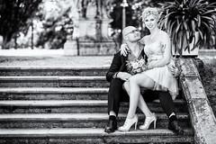 EL_SW (In Digo Fotografie) Tags: stairs stairway treppe palme palm dress suit sitting sitzend prchen couple love wedding hochzeit outdoor drausen kleid anzug oberfranken oberfrankenknipser indigophotography indigophotographybyandreaswolfram girl boy nokiss canon 70200 6d franken bamberg lichtenfels