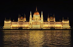 Parliament Building (tomas.jezek) Tags: budapest hungary hungaria danube city night river reflection parliamnet history
