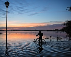 Rider On The Storm (DASEye) Tags: davidadamson daseye nikon virginiabeach virginia lake sunrise dawn sky silhouette water hurricane hurricanemathew storm