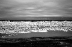 stormy sea (Beau Finley) Tags: hurricanematthew monochrome blackandwhite bw beaufinley deweybeach delaware ocean beach shore sand foam water waves landscape seaside seashore sea atlanticocean explore