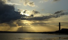Firth of Forth (cocopie) Tags: longannet firth forth sunbeams clouds culross