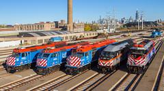 The Metra line-up (MRL 390) Tags: metra metraphotoshoot metralocomotives locomotivemagazine locomotive emd emdf40c emdf59phi mp36ph3s f40 emdf40ph3 emdf40phm2 f40c f40ph3 f40phm2 f59ph sw1 emdsw1 westernavenue chicago westernavenuechicago