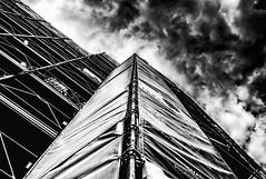 storm over scaffold (Morag.) Tags: bw blackandwhite monochrome urban scaffold sky cloud contrast nikon d3300 nikkor building architecture noiretblanc blackwhite tuscany toscana italy italia italie