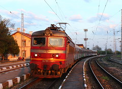 Evening at Vakarel (Krali Mirko) Tags: train railway bulgaria locomotive  bdz