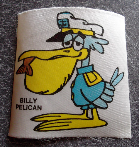 Vintage General Mills Cocoa Puffs Cereal Box Premium Billy Pelican Patch / Iron-On