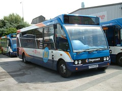 Stagecoach North West Optare Solo 47149 PX54 EXN branded for route 84 now in Cumbria (nsf323) Tags: stagecoachnorthwest fleetwoodoutstation