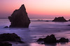 rocks and blue and pink sunset jpg