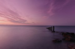 Calm (leecaine) Tags: pink sunset sea sky seascape water rock wales rocks solitude relaxing calming peaceful calm llandulas