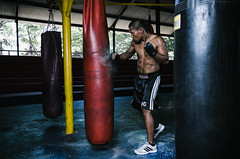 Ahmad Mandar 08 (eggysayoga) Tags: camp portrait bali man men film club umbrella indonesia fight nikon fighter flash boxer boxing mandar ahmad speedlight softbox strobe kuta mirah speedlite sasana strobist vsco yongnuo d7000 polewali