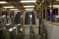 Turnstiles at night (cta web) Tags: railroad chicago cta trains transit southside redline chicagotransitauthority rapidtransit danryan ctaredline redsouth redlinesouth
