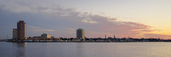 View of Portsmouth (SteveNakatani) Tags: city sunset urban water skyline river virginia cityscape elizabeth norfolk va portsmouth scape
