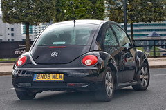 black beetle (n.a.) Tags: black reflection car vw bug volkswagen shiny beetle vehicle