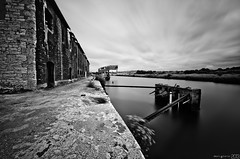 In the harbour. ( Mario Gutirrez Photographer) Tags: bw building abandoned architecture dock spain europe harbour infrared