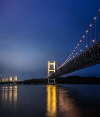 PhoTones Works #2872 (TAKUMA KIMURA) Tags: bridge sea nature japan night landscape scenery view      kimura   setoohashi takuma    rx100 photones