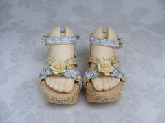 BJD Doll Shoe KW019S-front view -Kaye Wiggs-msd (5.7cmx2.7cm) (Kim Zentner) Tags: pink shoes doll handmade grapefruit kaye jun2 wiggs pinkgrapefruit dollshoes dollstown dollshe iplehouse kayewiggs