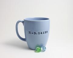 Pi Math Mug (lltownley) Tags: blue art cup coffee ceramics geometry coffeecup pi numbers math mug pottery 314 coffeemug etsy piday march14 lltownleyceramic