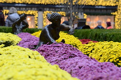 At the Rock (mag3737) Tags: nyc flowers newyork statue center rockefeller