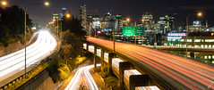 21:9 (Empty Quarter) Tags: seattle city light urban skyline night grid washington highway long exposure downtown cityscape sony trails freeway interstate f4 2470 a7r