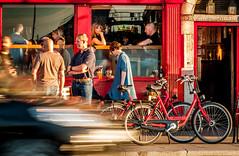 The window seat (maryhahn265) Tags: street people window bar pub drinking bicycles
