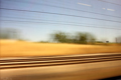 Movement on the train. (Sara C.M) Tags: movimiento barrido tren train movement tarvel viajar canoneos550d efs1855mmisii paisaje landscape lneas transport panning effect madrid spain europe espaa europa lines