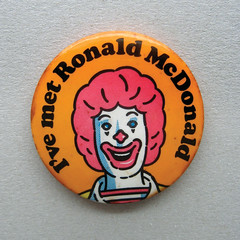 Vintage Pin Badge UK (The Moog Image Dump) Tags: vintage badge pin button retro mcdonalds golden arches restaurants met ronald scary clown kids that with fries uk