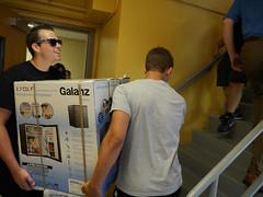 P1260470 (Widener University) Tags: movein studentmoveinday freshmanmoveinday freshman transfer boxes bins unload volunteers faculty staff