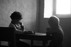 Who will win? (jessika59095) Tags: whowillwin winner lek slott sweden sverige nykpingshus nykping summer castle boardgames childhood children blackandwhite