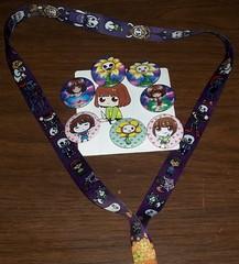 100_7720 (Amane-chan) Tags: akon anime convention akon27 buttons lanyard undertale chara frisk flowey flower