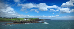Off to the wild blue yonder. (MSGS4) Tags: rochespoint lighthouse water cork harbour river sea wind green white red blue