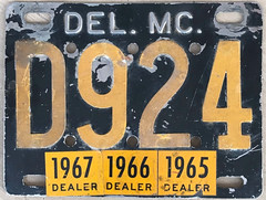 Delaware motorcycle dealer (sixes & sevens) Tags: 1956 license plates licenseplates de delaware notmyplate