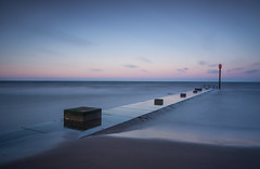 Sunset on the Lincolnshire Coast. (Laurie Reed) Tags: lincolnshire leefilters longexposure