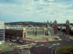 Espaa (pablokhlebnikov1) Tags: skyline composition photoonphone madewithphone barcelona flickrheroes vscocam vsco bus longexposure catalina cars ways rooftop panoramic visions square plaza spain traveling
