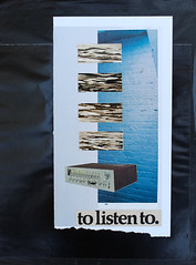 to listen to. (Brad Terhune) Tags: collage stereo component receiver music lover enthusiast blue brick pattern repetition text terhunewerks brad terhune bradterhune njartist njdada