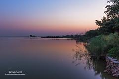 Rawal Lake sunset and moon (imrankhakwani) Tags: rawal lake islamabad pakistan sunset dusk