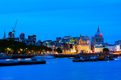 The Great Fire (Tedz Duran) Tags: tedzduran bluehour twilight london england uk unitedkingdom stpauls st pauls cathedral river thames water tide great fire ablaze londos burning south bank southbank blackfriars bridge boats barge travel 350 years commemoration photography long exposure sony ilce a7rii batis1885 carl zeiss batis 85mm cityoflondon city cityscape architecture urban