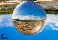 Alnmouth 7 (View From The Chair Photography) Tags: abstract reflection refraction glassball glasssphere sphere crystalball