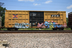 (o texano) Tags: houston texas graffiti trains freights bench benching tre