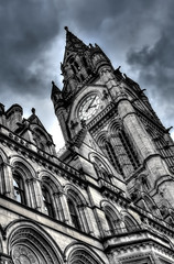 Gothic Spike (Tryppyhead) Tags: buildings northwestengland england hdr nikond7200 manchester gothic gothicrevival neogothic tower clocktower clock townhall