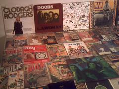 1970-1971-1972 : (Retro King) Tags: 1971 records albums 1970 rock vinyl doors 1972 mccartney magazines comicbooks hulk marvel singles books peanuts paperbacks