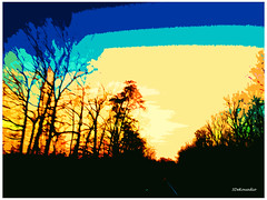Sunset #abstract (Stephenie DeKouadio) Tags: canon photography outdoor painting abstract artistic art sunset virginia color colour colorful darkandlight