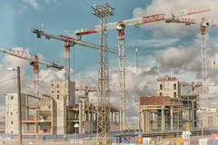 Becoming Different 3 (pni) Tags: cloud sky crane constructionsite concrete metal sign lamppost street lamp pylon redi kalasatama fiskehamnen helsinki helsingfors finland suomi pekkanikrus skrubu pni
