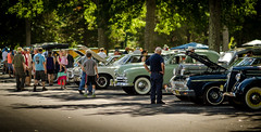 car show crowd (Steve Stanger) Tags: nikon nikond7000 d7000 85mm rokinon85mmf14 allairestatepark allaire car carshow people crowd