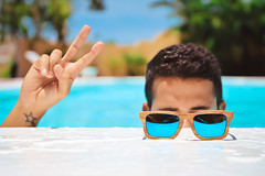 IMG_1550 (nadiacomingsoon) Tags: chilea glasses sunglasses bamboo bamboosunglasses chillin commercial summer summertime sunny pool swimmimgpool handmade colors dominicanrepublic dr dominicana