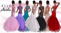 -E L L E- Aida - Ad (AdelleBelle) Tags: elle mesh body applier omega tmp belleza slink maitreya formal elegant evening dress long