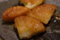 (HAMACHI!) Tags: tokyo bbq 2016 japan food  zenibakobbq hokkaido ginza shinbashi charcoalgrill dinner pub seafood potatocake imodango  fujifilmx70 fujifilmx x70