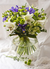 I love flowers ( *..CAH.. * ) Tags: flowers bouquet lily whitelilly stilllife softlight softcolours
